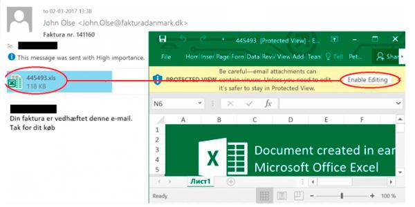 Ny ransomware fra fakturadanmark.dk med excel og word-filer