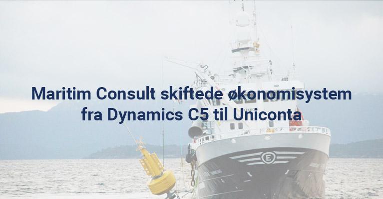 Maritim økonomisysten´m Dynamics C5 til Uniconta