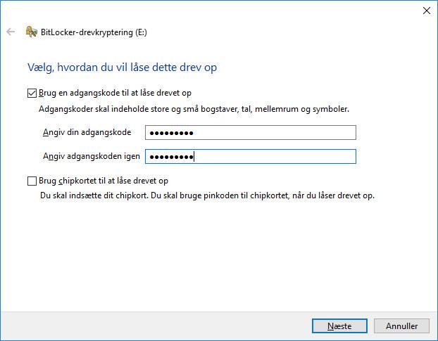 Krypter USB Drev Nøgle Adgangskode
