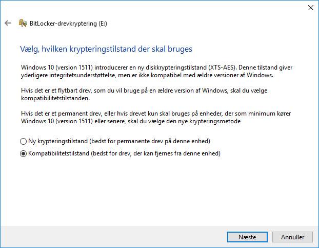 Krypter USB Drev Nøgle Hele Kompatibilitetstilstand
