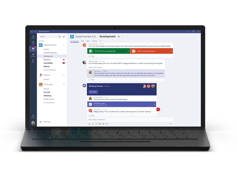 Microsoft Teams Screenshot hjemmearbejde