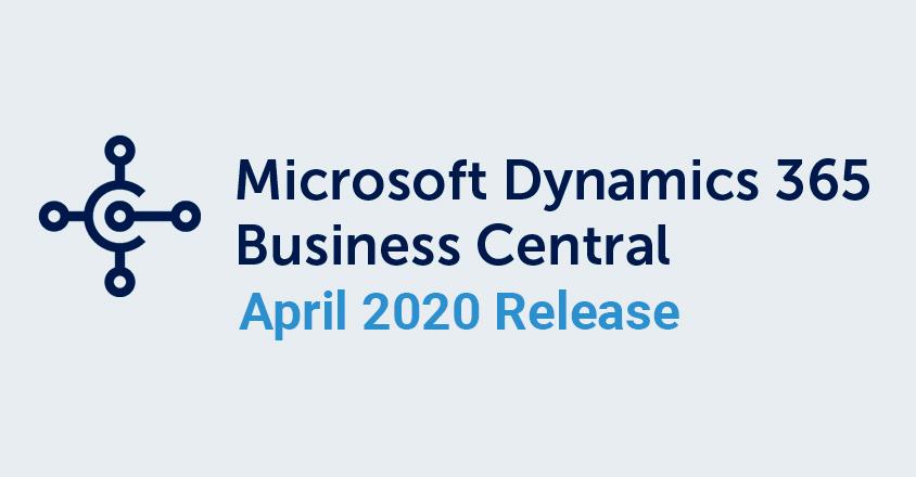 Business Central April 2020